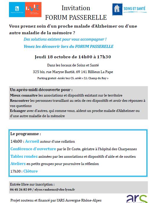 Invitation Forum Passerelle - Aide aux aidants