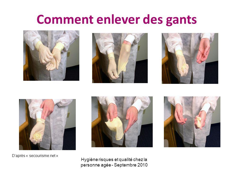 Bien enlever des gants