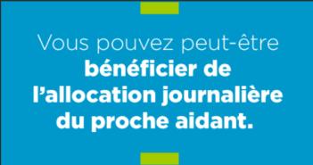 aLLOCATION JOURNALIERE PROCHE AIDANT
